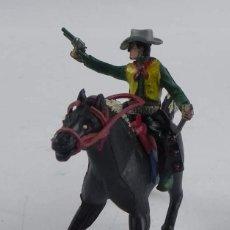 Figuras de Goma y PVC: VAQUERO A CABALLO DE SOTORRES, FABRICADO EN GOMA, SERIE SOMBRERO DESMONTABLE, AÑOS 50.. Lote 98831347