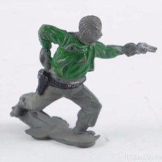 Figurines en Caoutchouc et PVC: FIGURA DE VAQUERO AMERICANO DISPARANDO EN GOMA, POSIBLEMENTE REAMSA.. Lote 98836763