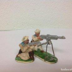 Figuras de Goma y PVC: RARO SET AMETRALLADORA STARLUX - AÑOS 50 PRIMERA SERIE. Lote 98902123