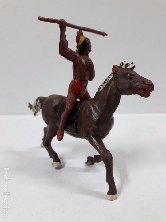 Figuras de Goma y PVC: GUERRERO INDIO A CABALLO . REALIZADO POR GAMA . AÑOS 50 EN GOMA - Foto 2 - 98967703