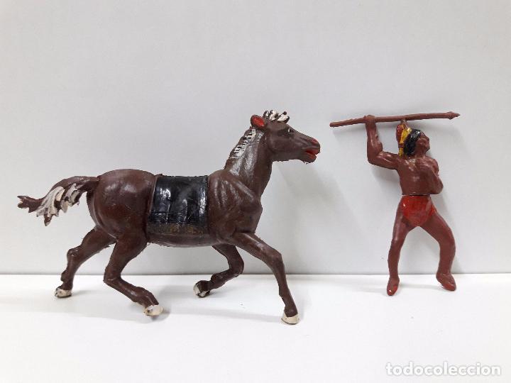Figuras de Goma y PVC: GUERRERO INDIO A CABALLO . REALIZADO POR GAMA . AÑOS 50 EN GOMA - Foto 3 - 98967703