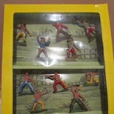 Figuras de Goma y PVC: INDIOS VAQUERO OLIVER PECH. Lote 99103499