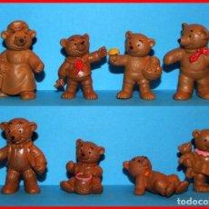 Figuras de Goma y PVC: IDA BOHATTA FAMILIA OSOS LOTE DE 8 FIGURAS EN PVC BULLY W. GERMANY 1983. Lote 99222631