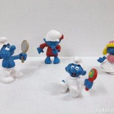 Figuras de Goma y PVC: LOTE DE CUATRO PITUFOS . Lote 99226315