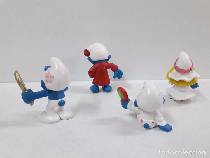 Figuras de Goma y PVC: LOTE DE CUATRO PITUFOS - Foto 2 - 99226315