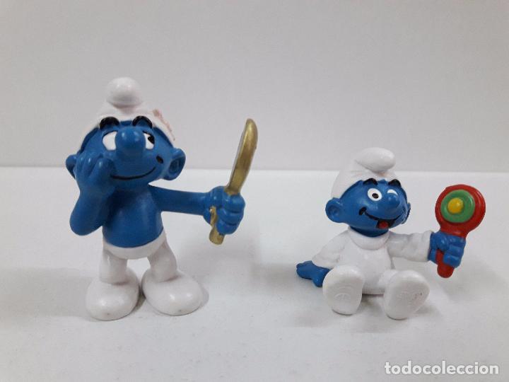 Figuras de Goma y PVC: LOTE DE CUATRO PITUFOS - Foto 3 - 99226315