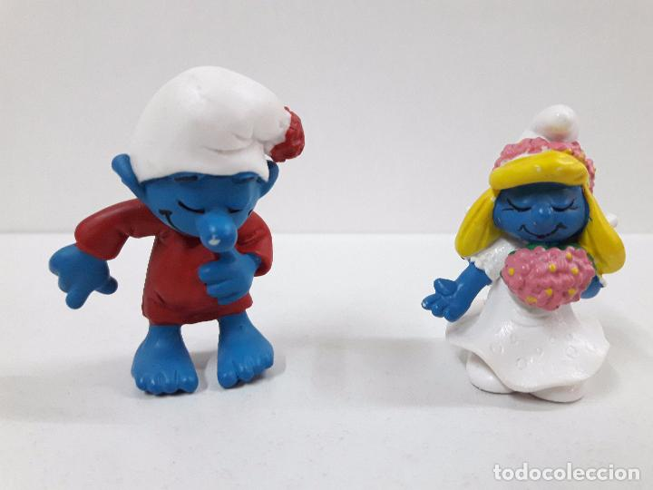Figuras de Goma y PVC: LOTE DE CUATRO PITUFOS - Foto 4 - 99226315