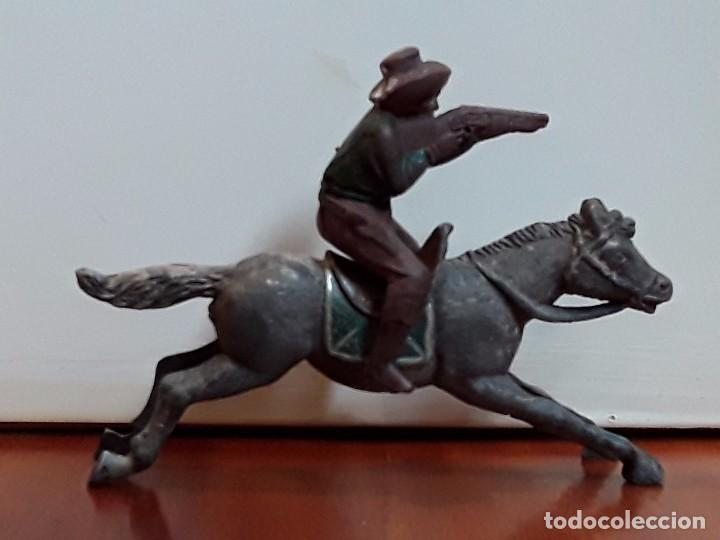VAQUERO CON CABALLO DEL OESTE GOMA HERMANOS PECH AÑOS 50 (Juguetes - Figuras de Goma y Pvc - Pech)