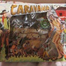 Figuras de Goma y PVC: CARAVANA DEL OESTE. Lote 99568435