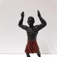 Figuras de Goma y PVC: PORTEADOR . REALIZADO POR JECSAN . SERIE SAFARI . AÑOS 50 EN GOMA. Lote 99755639