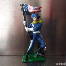 Figuras de Goma y PVC: MUY RARA FIGURA EN GOMA PECH AMERICANO UNIONISTA ABANDERADO NORDISTAS. Lote 100135627