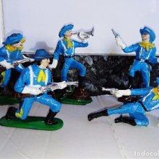 Figuras de Goma y PVC: FIGURAS EN GOMA PECH SOLDADOS AMERICANOS NORDISTAS. Lote 100156711