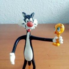Figuras de Goma y PVC: FIGURA FLEXIBLE PVC GOMA EL GATO SILVESTRE ATRAPA A PIOLIN - COMICS SPAIN WARNER BROS.. Lote 100307883