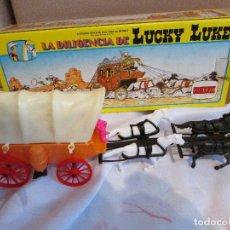 Figuras de Goma y PVC: LA DILIGENCIA DE LUCKY LUKE COMANSI . Lote 100330467