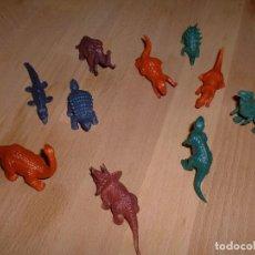 Figuras de Goma y PVC: LOTE 10 ANIMALES PREHISTÓRICOS. Lote 100405459