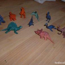 Figuras de Goma y PVC: LOTE 10 ANIMALES PREHISTÓRICOS. Lote 100405471