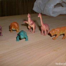 Figuras de Goma y PVC: LOTE 6 ANIMALES PREHISTÓRICOS. Lote 100405499