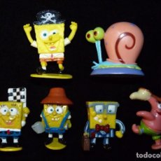 Figuras de Goma y PVC: LOTE DE 6 FIGURAS BOB ESPONJA. VIACOM . Lote 100420283