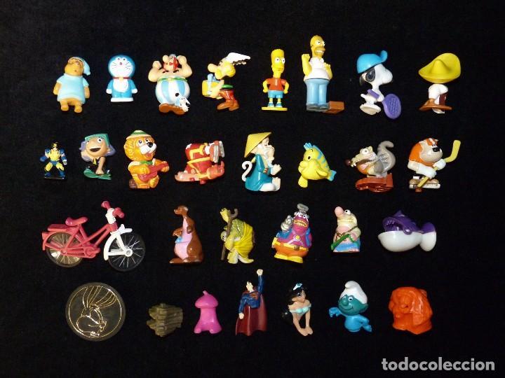 LOTE DE 24 FIGURAS VARIADAS KINDER + 5 VARIOS (Juguetes - Figuras de Gomas y Pvc - Kinder)