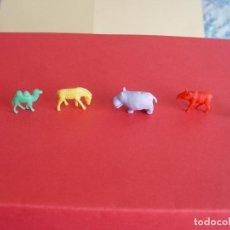 Figuras de Goma y PVC: DUNKIN (1960-70) SERIE ANIMALES (LOTE DE 6) ¡COLECCIONISTA!. Lote 100520319