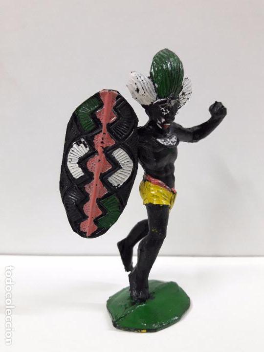 Figuras de Goma y PVC: GUERRERO AFRICANO NEGRO . REALIZADO POR ARCLA . AÑOS 50 EN GOMA - Foto 3 - 100525515