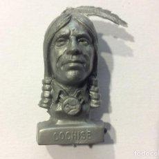 Figuras de Goma y PVC: CABEZA BUSTO LEJANO OESTE DUNKIN COCHISE. Lote 100584691