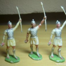 Figuras de Goma y PVC: ROJAS Y MALARET. 3 GUERREROS IBEROS DE ANÍBAL. PLÁSTICO. Lote 100638971