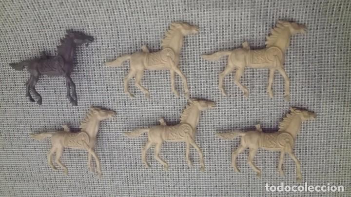 LOTE CABALLOS INDIOS COMANSI AÑOS 70 (Juguetes - Figuras de Goma y Pvc - Comansi y Novolinea)