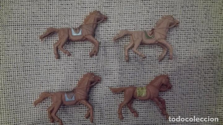Figuras de Goma y PVC: LOTE CABALLOS INDIOS VAQUEROS JECSAN AÑOS 70 - Foto 2 - 100951191