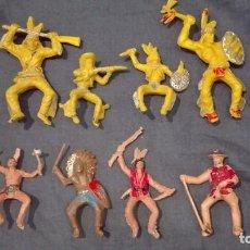 Figuras de Goma y PVC: LOTE INDIOS VAQUEROS LAFREDO PECH HERMANOS REAMSA SOTORRES COMANSI. Lote 101068467