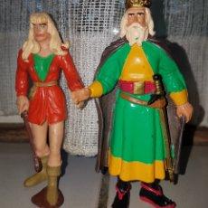 Figuras de Goma y PVC: REBAJADO, PRECIO FIJO: COMICS SPAIN:BONITO LOTE 3 FIGURAS PVC GOMA PRINCIPE VALIENTE COMICS SPAIN.. Lote 90881825