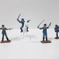 Figuras de Goma y PVC: SOLDADOS FEDERALES - MINI OESTE . REALIZADOS POR COMANSI . AÑOS 60. Lote 101156023