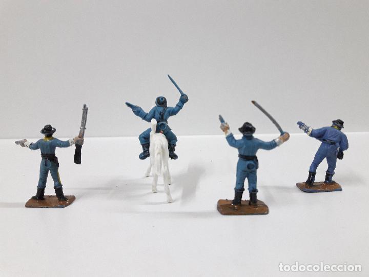 Figuras de Goma y PVC: SOLDADOS FEDERALES - MINI OESTE . REALIZADOS POR COMANSI . AÑOS 60 - Foto 2 - 101156023