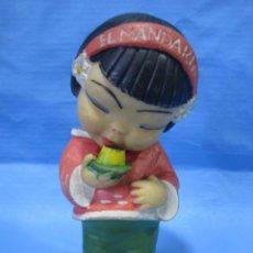 Figuras de Goma y PVC: MUÑECA EN GOMA. FLAN MANDARÍN. ALTURA 18 CM. Lote 101169999