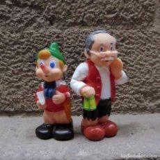 Figuras de Goma y PVC: MUÑECOS DE GOMA PINOCHO Y GEPPETO, 60S. Lote 101278251