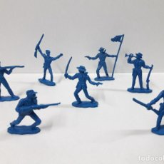 Figuras de Goma y PVC: SOLDADOS FEDERALES . REALIZADO POR OLIVER . AÑOS 60 . EN PLASTICO MONOCOLOR. Lote 101402123