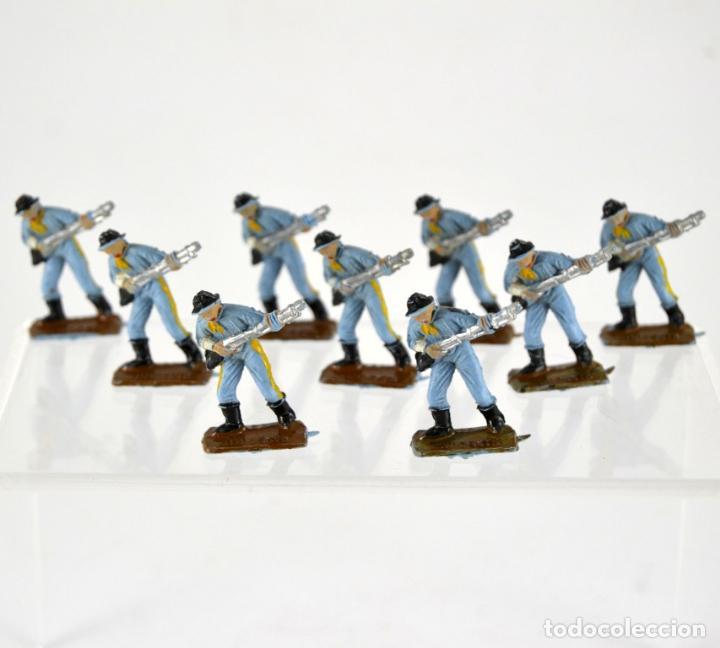 LOTE DE 9 SOLDADOS FEDERALES / MINI OESTE COMANSI (Juguetes - Figuras de Goma y Pvc - Comansi y Novolinea)