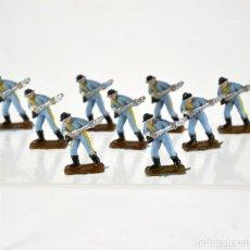 Figuras de Goma y PVC: LOTE DE 9 SOLDADOS FEDERALES / MINI OESTE COMANSI. Lote 101482427