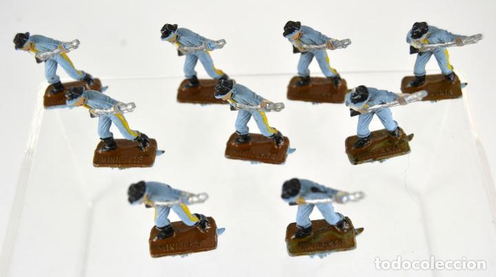 Figuras de Goma y PVC: Lote de 9 Soldados Federales / Mini Oeste Comansi - Foto 3 - 101482427