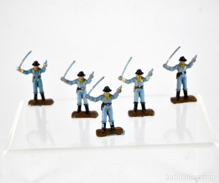 LOTE DE 5 SOLDADOS FEDERALES / MINI OESTE COMANSI (Juguetes - Figuras de Goma y Pvc - Comansi y Novolinea)