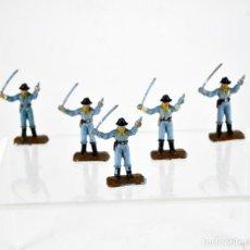 Figuras de Goma y PVC: LOTE DE 5 SOLDADOS FEDERALES / MINI OESTE COMANSI. Lote 101482519