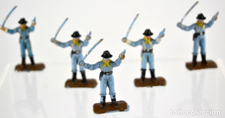 Figuras de Goma y PVC: Lote de 5 Soldados Federales / Mini Oeste Comansi - Foto 2 - 101482519