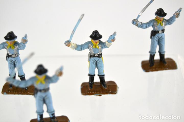 Figuras de Goma y PVC: Lote de 5 Soldados Federales / Mini Oeste Comansi - Foto 3 - 101482519