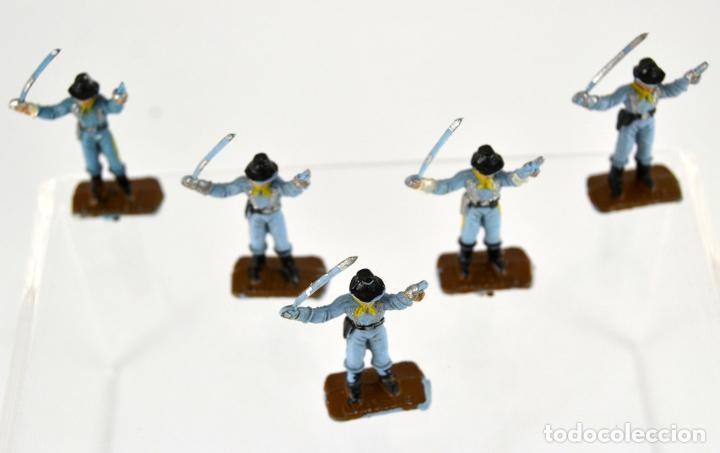 Figuras de Goma y PVC: Lote de 5 Soldados Federales / Mini Oeste Comansi - Foto 4 - 101482519