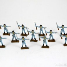 Figuras de Goma y PVC: LOTE DE 11 SOLDADOS FEDERALES / MINI OESTE COMANSI. Lote 101482627