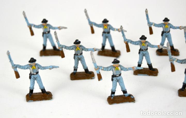 Figuras de Goma y PVC: Lote de 11 Soldados Federales / Mini Oeste Comansi - Foto 2 - 101482627