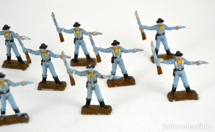 Figuras de Goma y PVC: Lote de 11 Soldados Federales / Mini Oeste Comansi - Foto 3 - 101482627