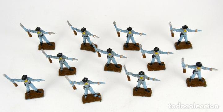 Figuras de Goma y PVC: Lote de 11 Soldados Federales / Mini Oeste Comansi - Foto 4 - 101482627