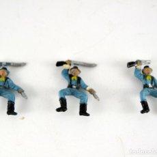 Figuras de Goma y PVC: LOTE DE 3 SOLDADOS FEDERALES / MINI OESTE COMANSI. Lote 101482719