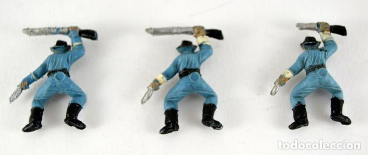Figuras de Goma y PVC: Lote de 3 Soldados Federales / Mini Oeste Comansi - Foto 2 - 101482719